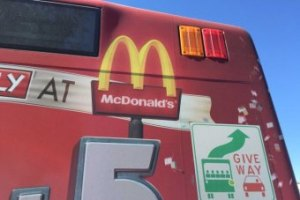 The ACT has taken steps to ban fast-food ads on buses. Image from abc.net