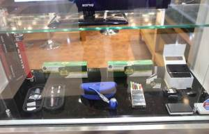 Retail display of vaping products in a shop in Westfield Shopping Centre, Chatswood, Sydney, in 2014