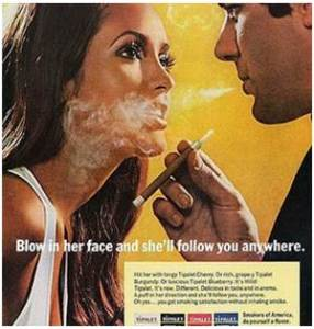 old tobacco ad