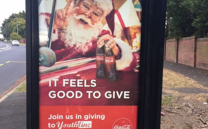 coke bus shelter